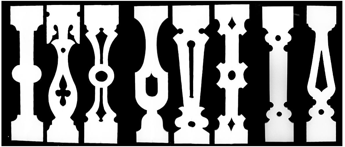 Porch Sawn Baluster Balusters pine