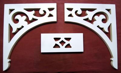 Victorian porch arch bracket system