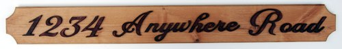 Victorian style custom signs